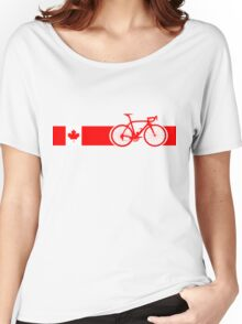 Bike Stripes Canadian National Road Race Women's Relaxed Fit T-Shirt