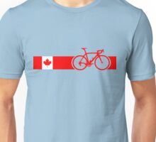 Bike Stripes Canadian National Road Race Unisex T-Shirt
