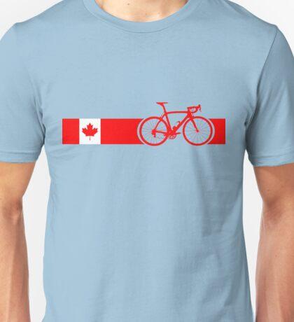 Bike Stripes Canadian National Road Race Unisex T-Shirt