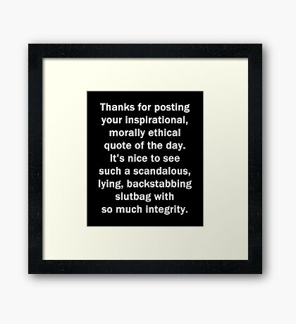 Thanks for Posting Framed Print