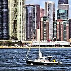 Chicago IL - Sailing on Lake Michigan by Susan Savad