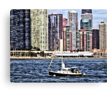 Chicago IL - Sailing on Lake Michigan Canvas Print