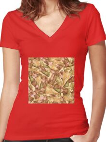Nature 3 Women's Fitted V-Neck T-Shirt