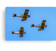 Bristol F.2b Fighters in vic formation Canvas Print