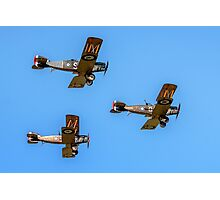 Bristol F.2b Fighters in vic formation Photographic Print