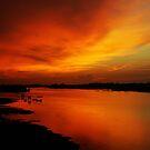 River Sunset in Sabah  by Peter Doré