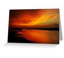 River Sunset in Sabah  Greeting Card