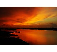 River Sunset in Sabah  Photographic Print