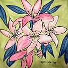 Asiatic Lilies 2009 by Alexandra Felgate