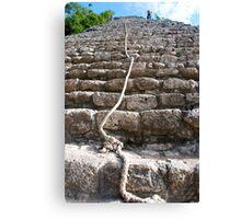 steps of the maya Canvas Print