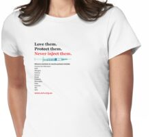 Love them (inc. reactions) (side aligned) Womens Fitted T-Shirt