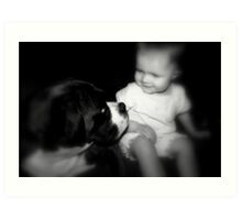 Friends for ever!  -Boxer Dogs Series- Art Print
