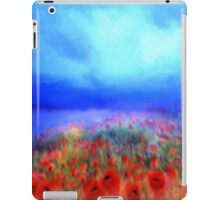 Poppies in the mist'... iPad Case/Skin