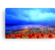 Poppies in the mist'... Canvas Print