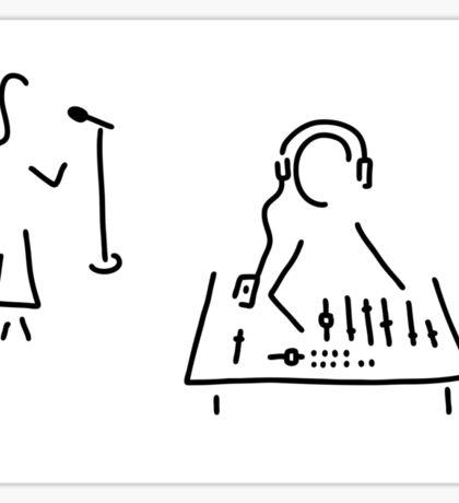 sound engineer studio admission mixing writing desk Sticker