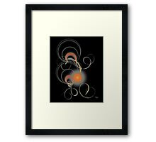 'Light Flame Abstract 243' Framed Print