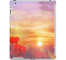 Landscape of dreaming Poppies'... iPad Case/Skin