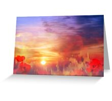 Landscape of dreaming Poppies'... Greeting Card