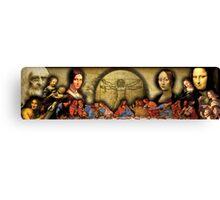 Da Vinci Collage Canvas Print
