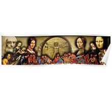 Da Vinci Collage Poster