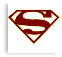 Supergirl CBS Sybol Shirt Canvas Print