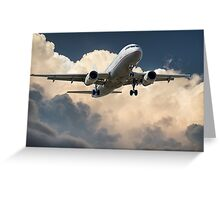 Aeroplane in the Clouds Greeting Card