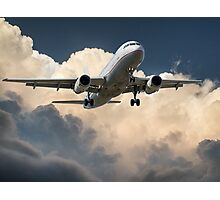 Aeroplane in the Clouds Photographic Print