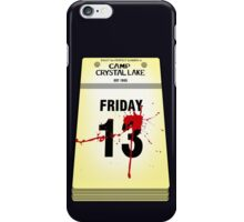 Crystal Lake Calendar iPhone Case/Skin