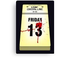 Crystal Lake Calendar Canvas Print