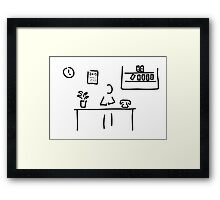 administration office Framed Print