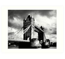Moody Tower Bridge in London Art Print