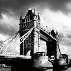 Moody Tower Bridge in London by Mark Tisdale