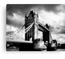 Moody Tower Bridge in London Canvas Print