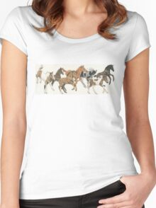 Frolicking Foals Women's Fitted Scoop T-Shirt