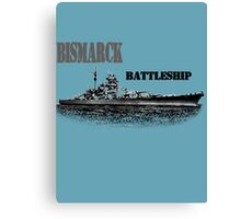 Battleship Bismarck Canvas Print