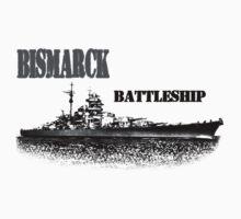 Battleship Bismarck Kids Tee