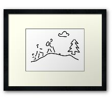 walk walking wandering Framed Print