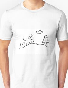 walk walking wandering T-Shirt