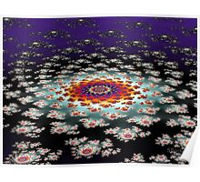 """Galactic Flower' Poster"