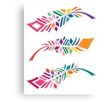 Stained Glass Feathers Canvas Print