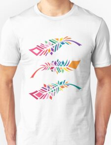 Stained Glass Feathers Unisex T-Shirt