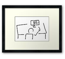 web designer graphic artist Framed Print