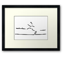 broad jump athletics wide jumper Framed Print