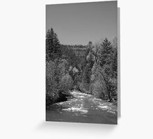 Pecos River, Quickened by Snow Melt Greeting Card