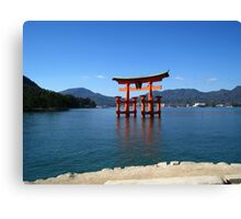 Itsukushima Shrine Tori Gate Canvas Print