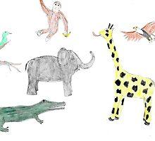 Zoo animals pattern by awsmid