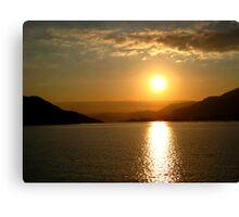 Sunset over Hiroshima Canvas Print