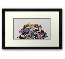 Fairy Tail Lucy and Spirits Framed Print