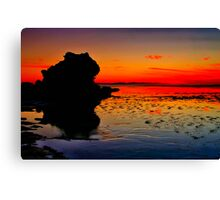 """""""Dawn Reflections on the Receding Tide"""" Canvas Print"""
