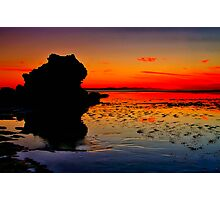 """Dawn Reflections on the Receding Tide"" Photographic Print"